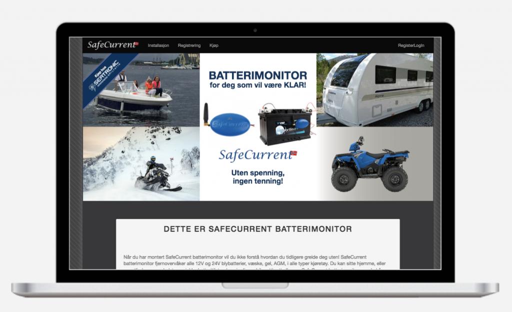 Safecurrent batterimonitor nettside